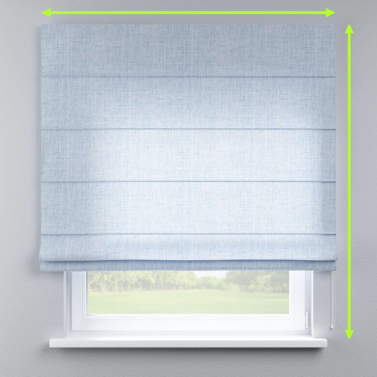 Lined roman blind in collection Aquarelle, fabric: 140-74
