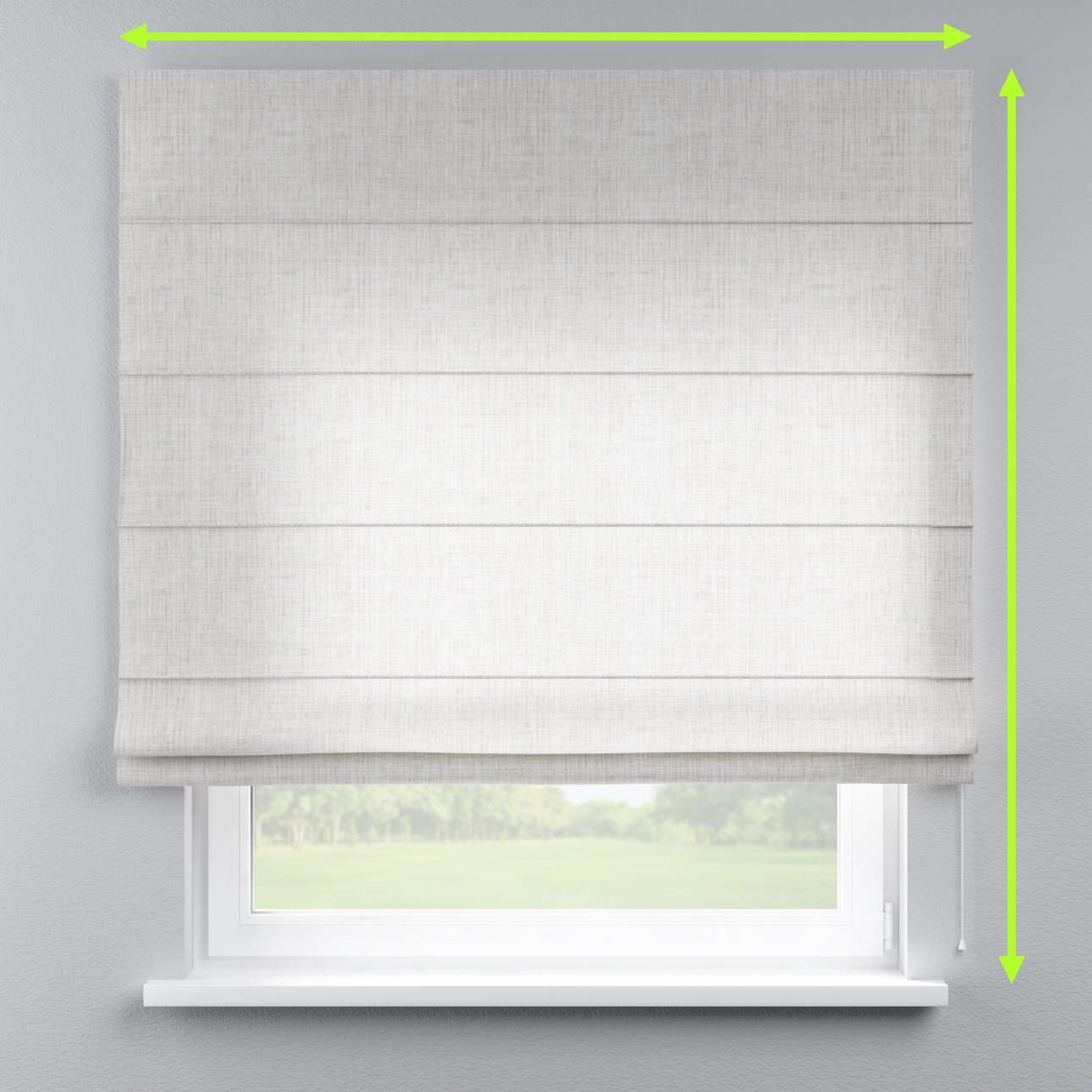 Lined roman blind in collection Aquarelle, fabric: 140-75