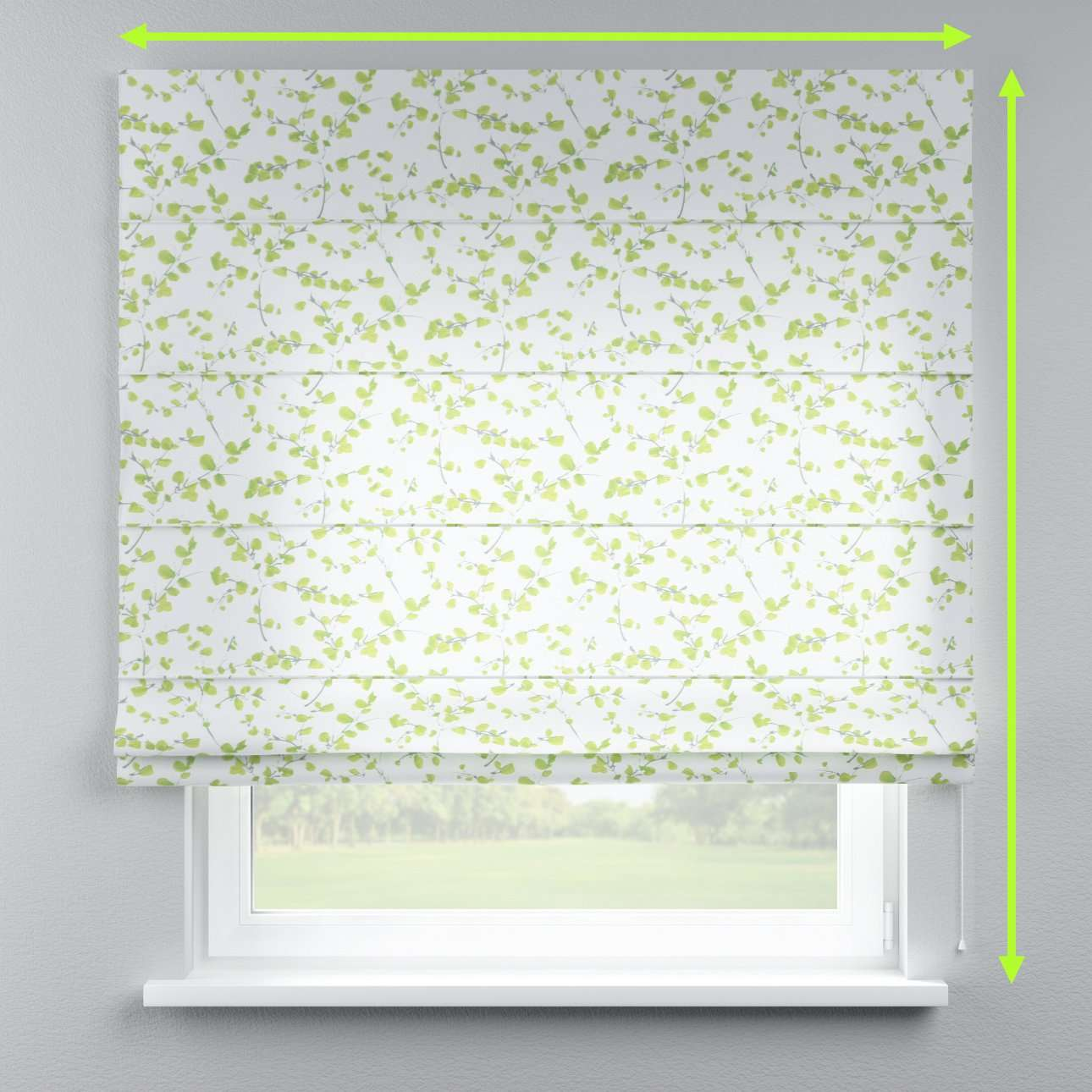Lined roman blind in collection Aquarelle, fabric: 140-76