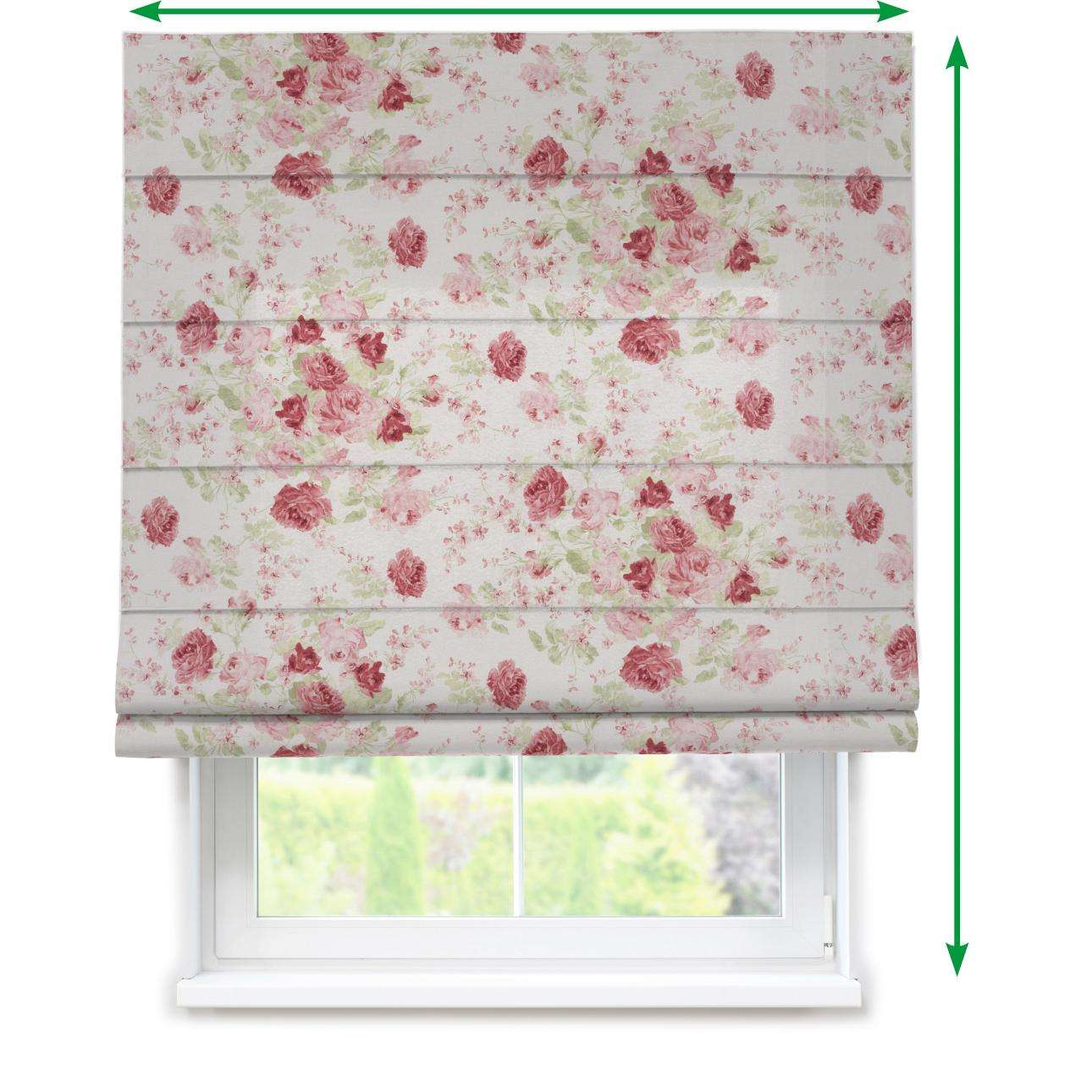Lined roman blind in collection Flowers, fabric: 140-90