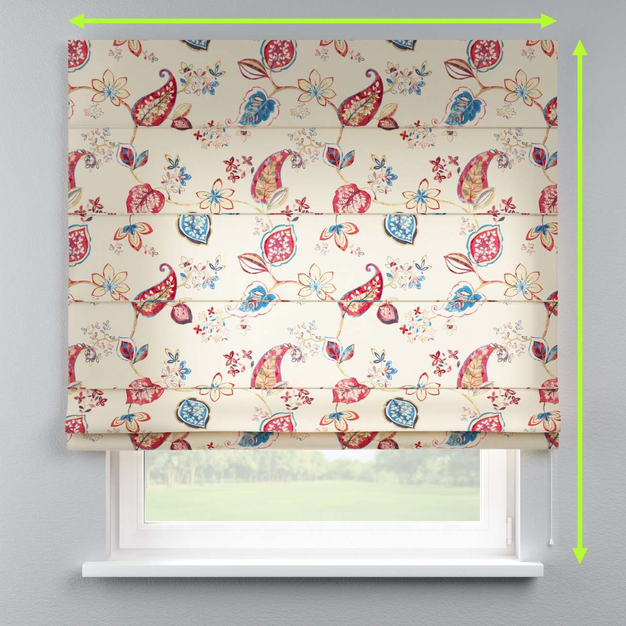 Lined roman blind in collection Norge, fabric: 140-96