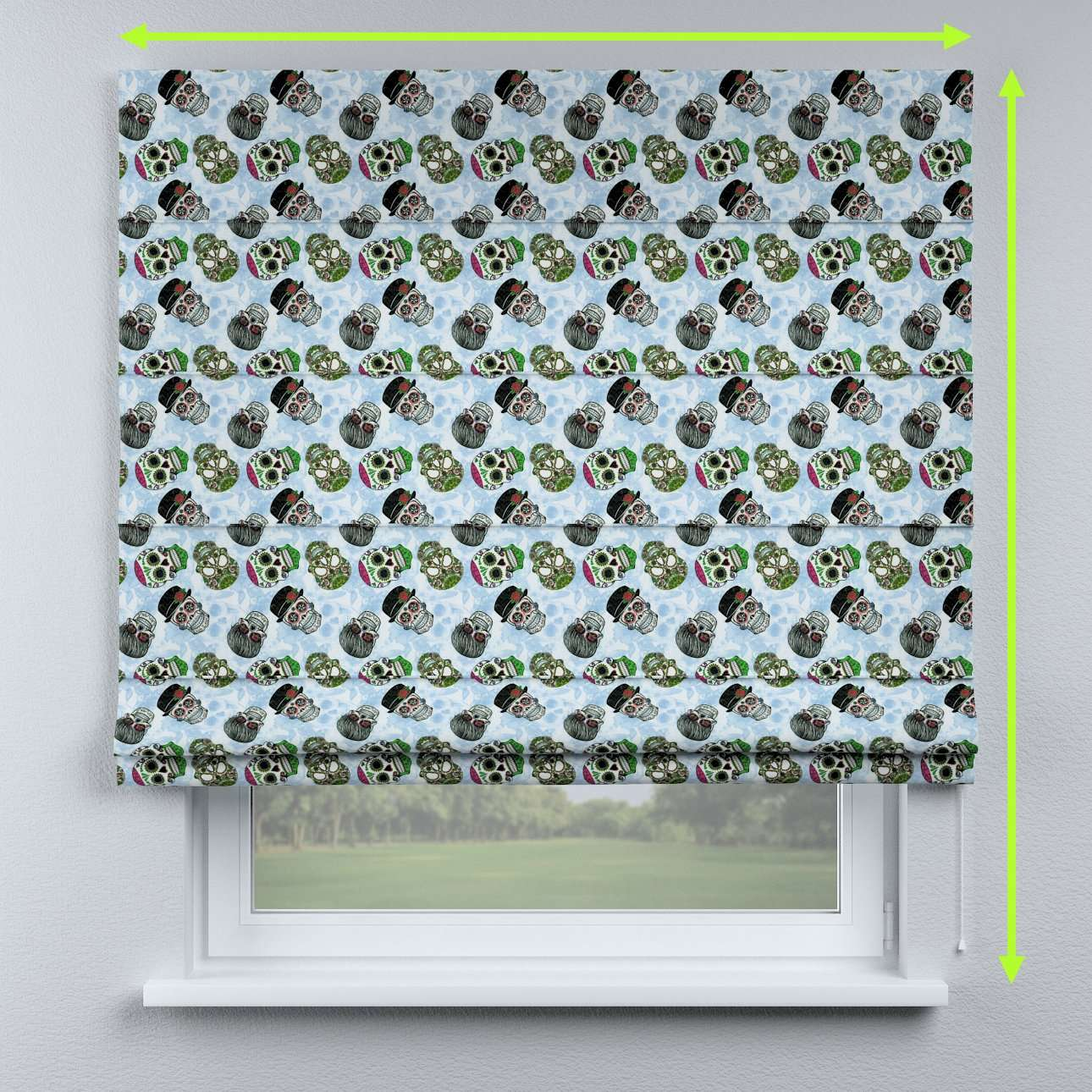 Lined roman blind in collection Freestyle, fabric: 141-01