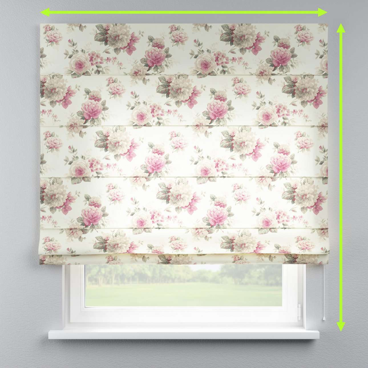 Lined roman blind in collection Mirella, fabric: 141-07