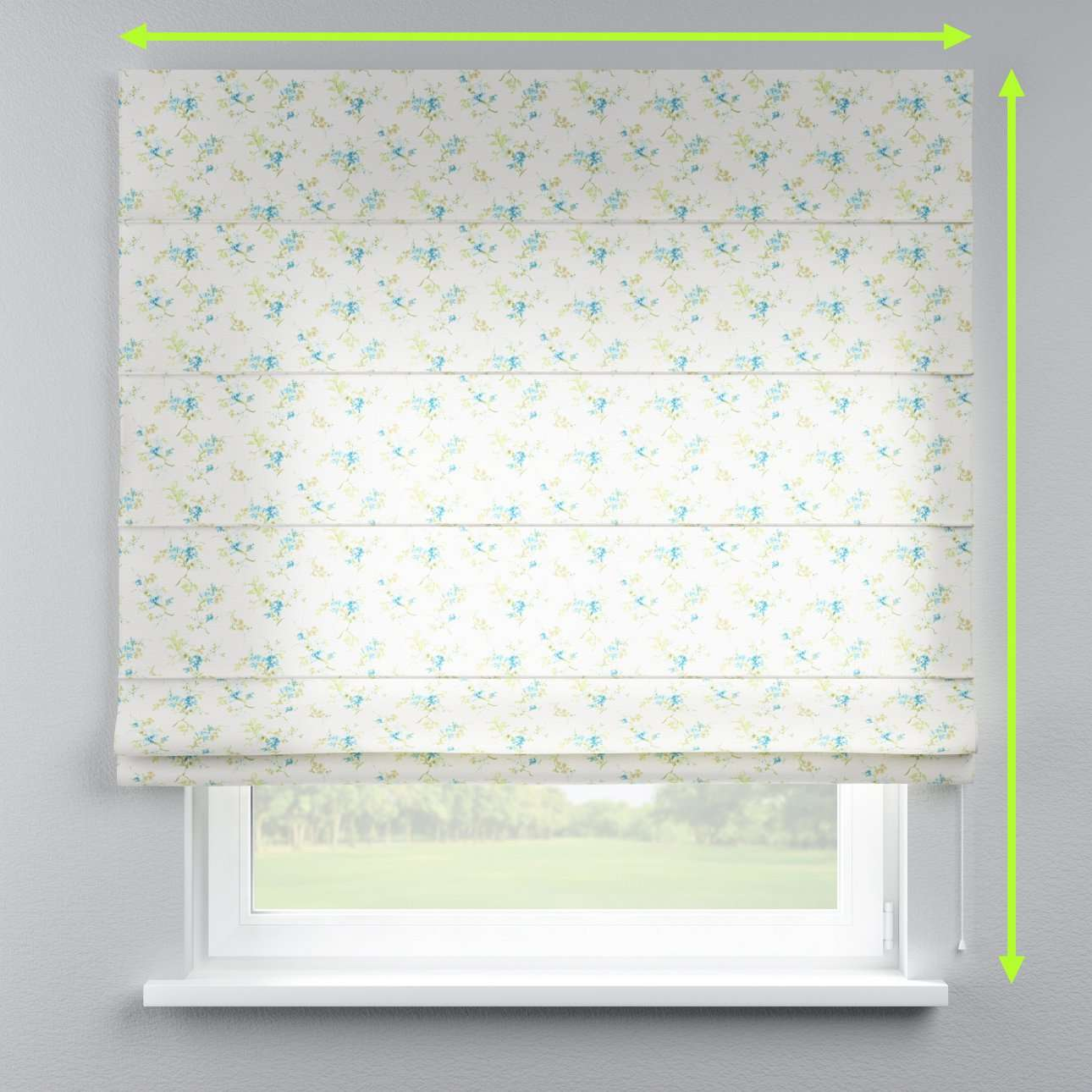 Lined roman blind in collection Mirella, fabric: 141-16
