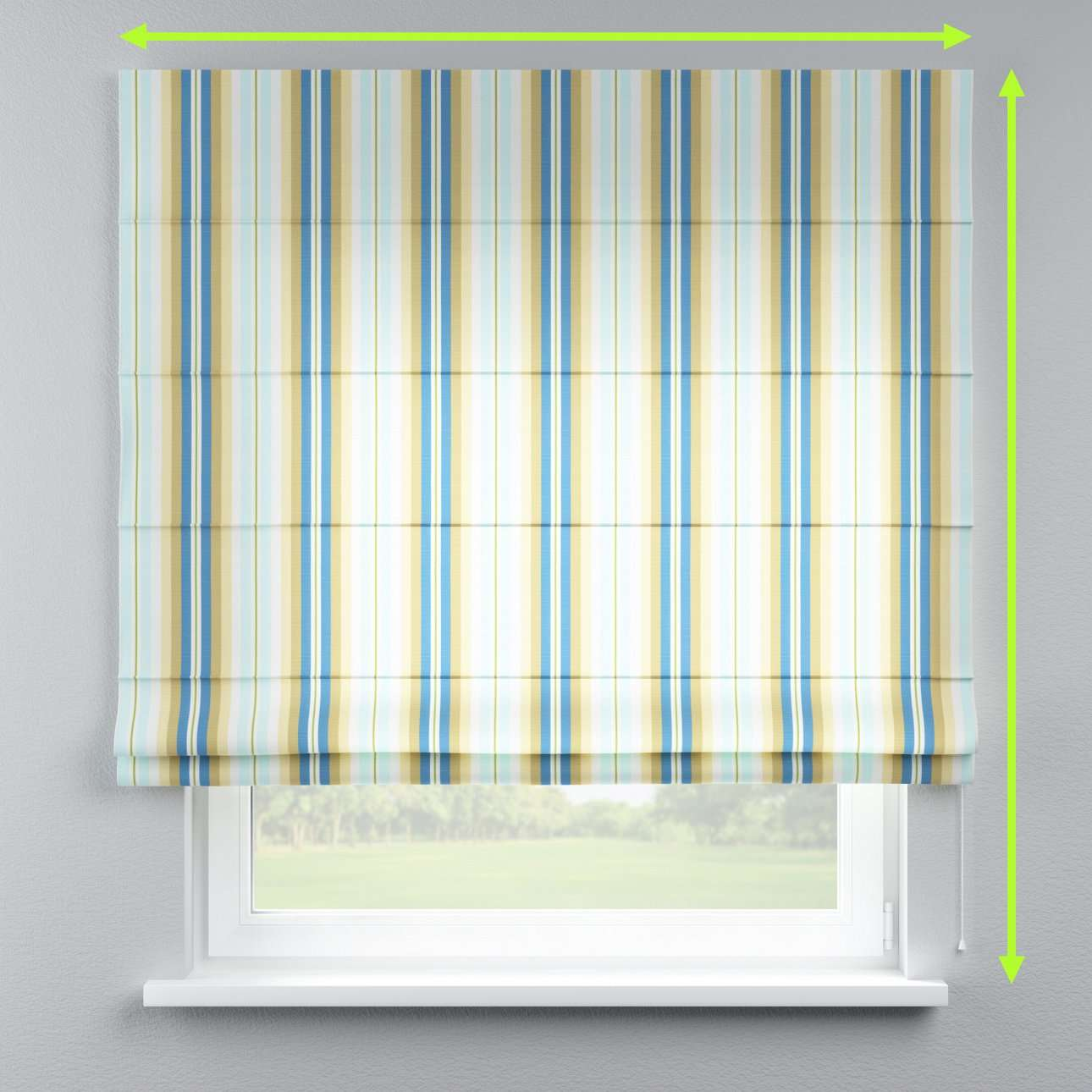 Lined roman blind in collection Mirella, fabric: 141-17