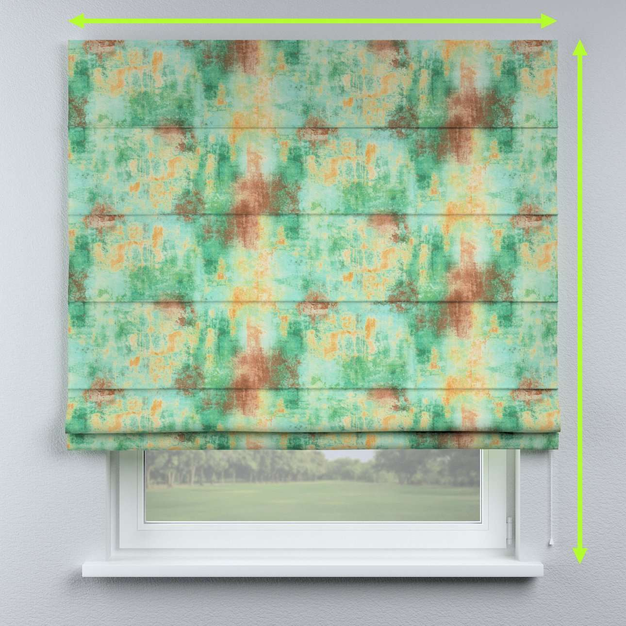 Lined roman blind in collection Urban Jungle, fabric: 141-22