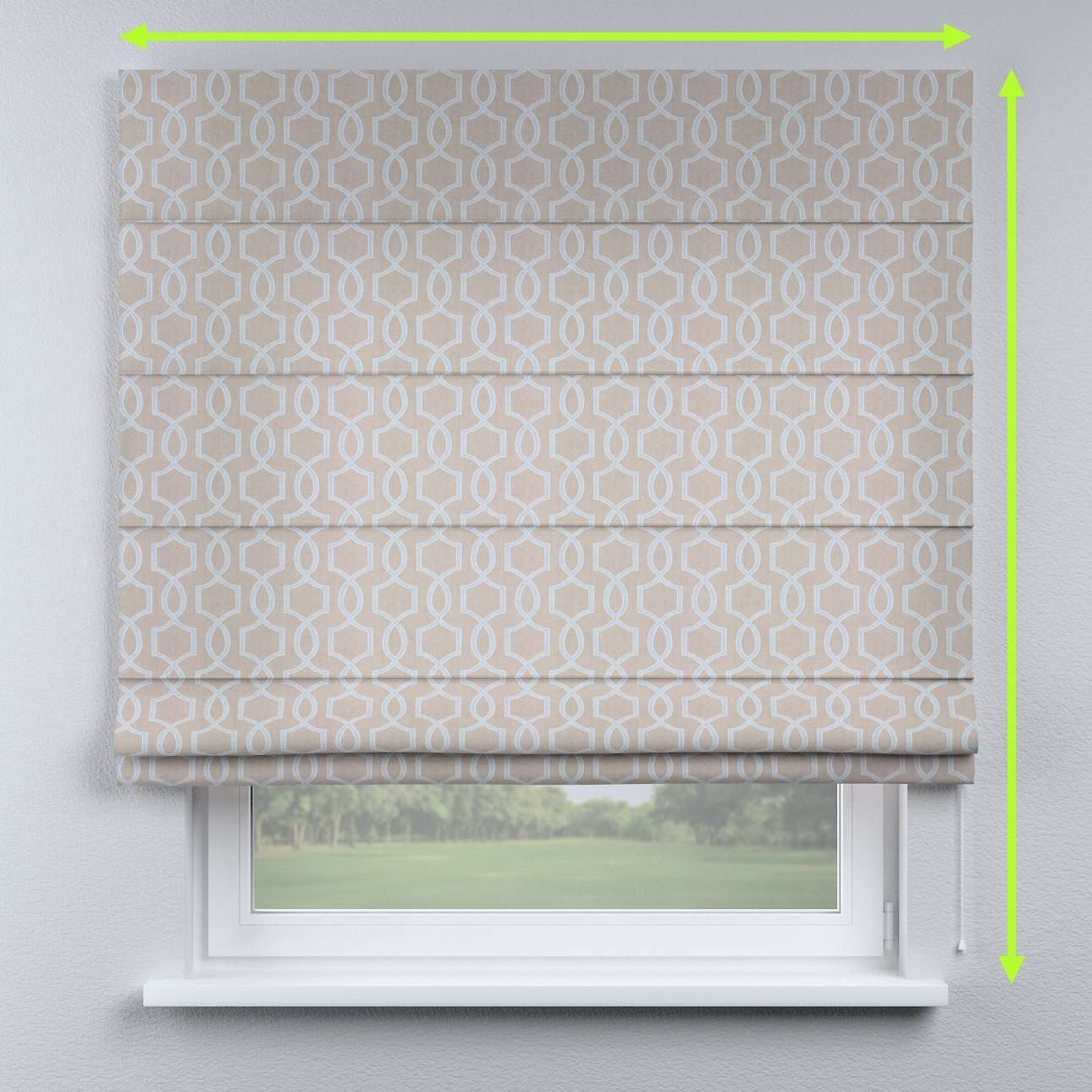 Lined roman blind in collection Comic Book & Geo Prints, fabric: 141-26