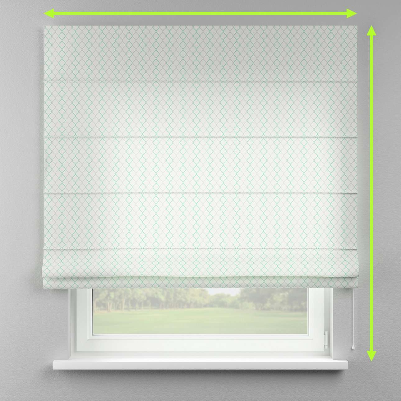 Lined roman blind in collection Geometric, fabric: 141-47
