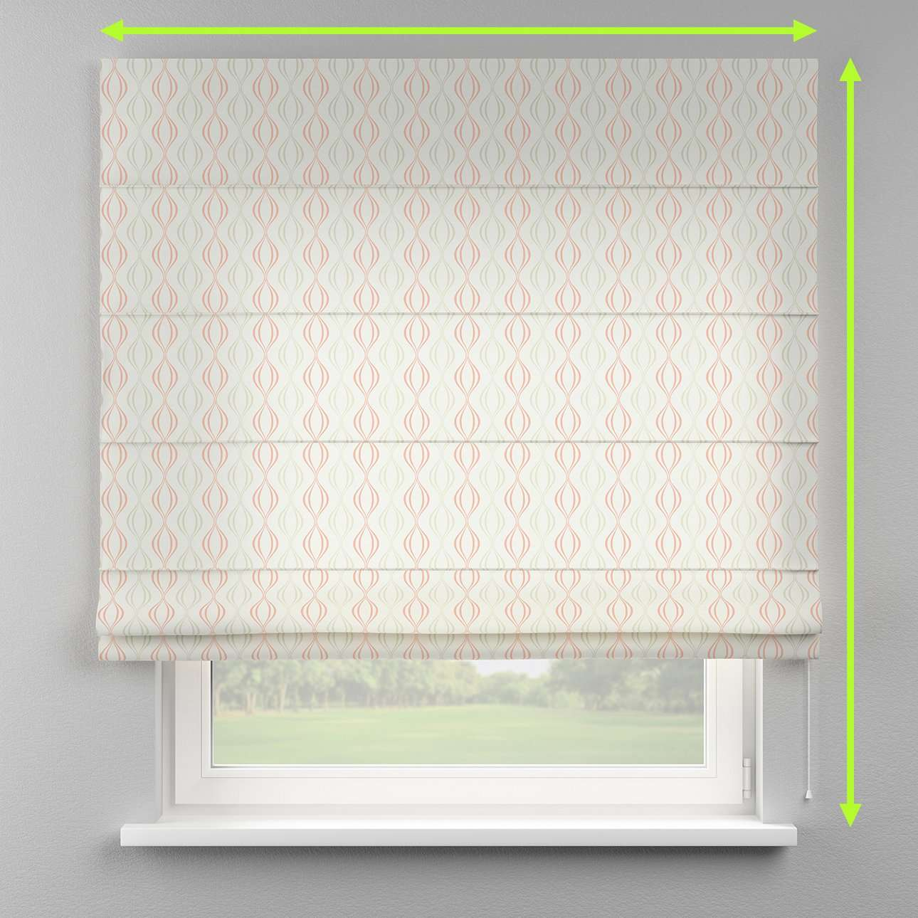 Lined roman blind in collection Geometric, fabric: 141-49