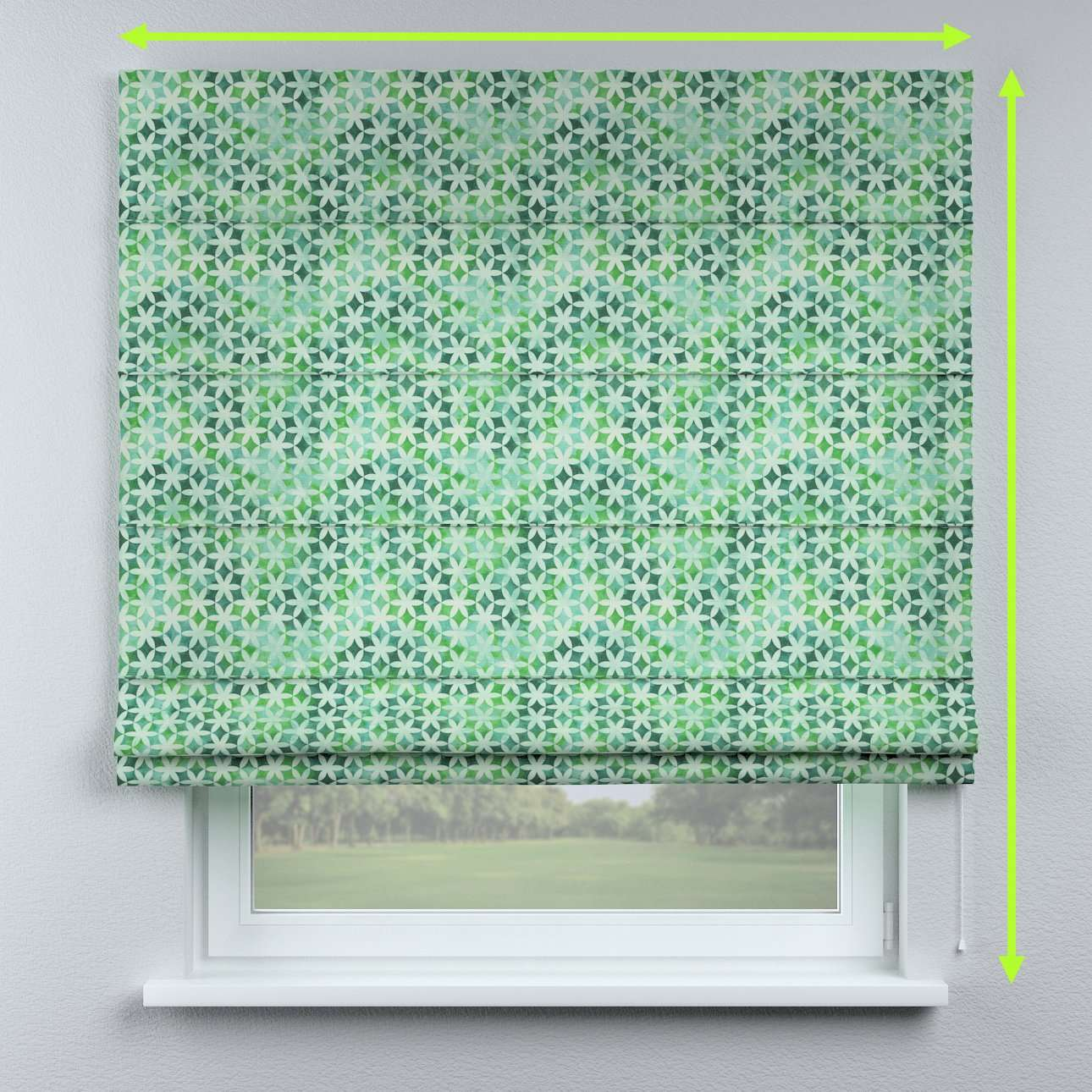Lined roman blind in collection Urban Jungle, fabric: 141-65