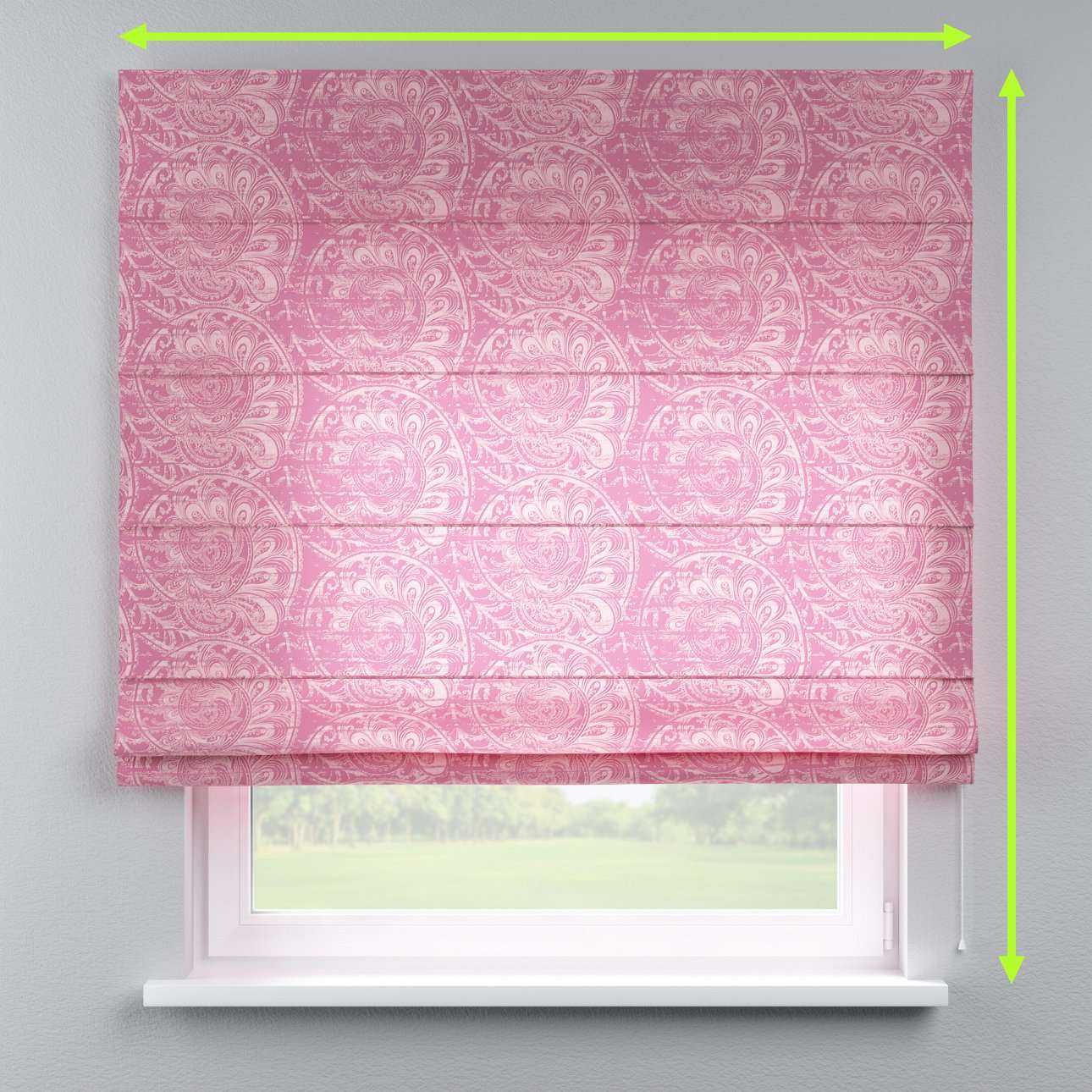 Lined roman blind in collection Mirella, fabric: 143-07
