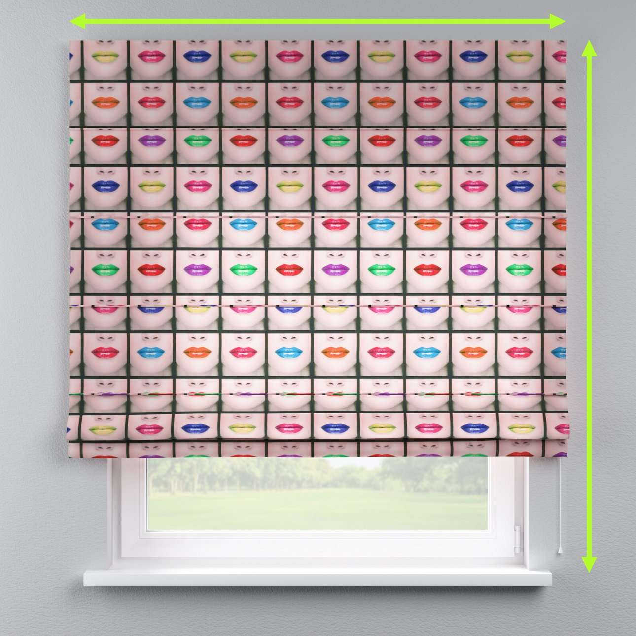 Lined roman blind in collection Freestyle, fabric: 150-05