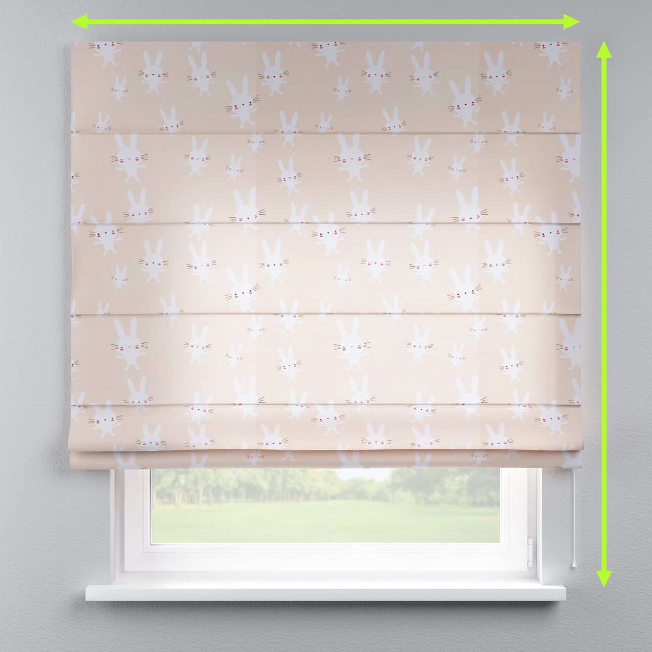 Lined roman blind in collection Apanona, fabric: 151-00