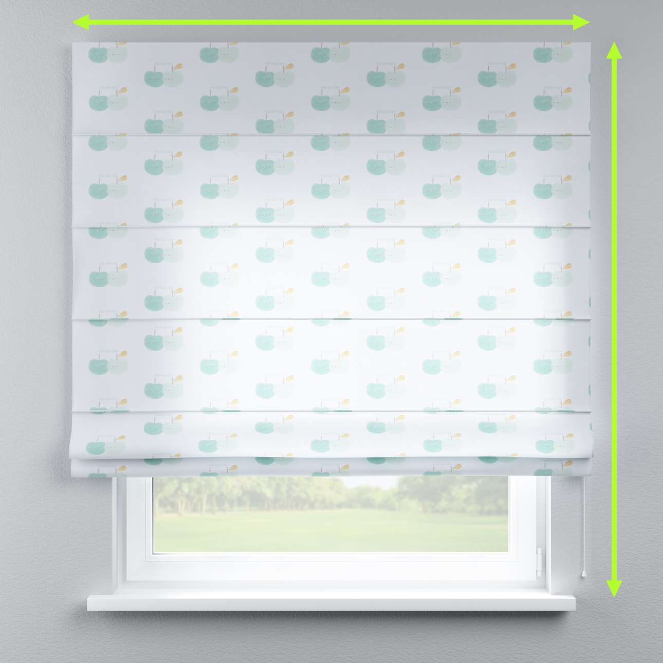 Lined roman blind in collection Apanona, fabric: 151-02