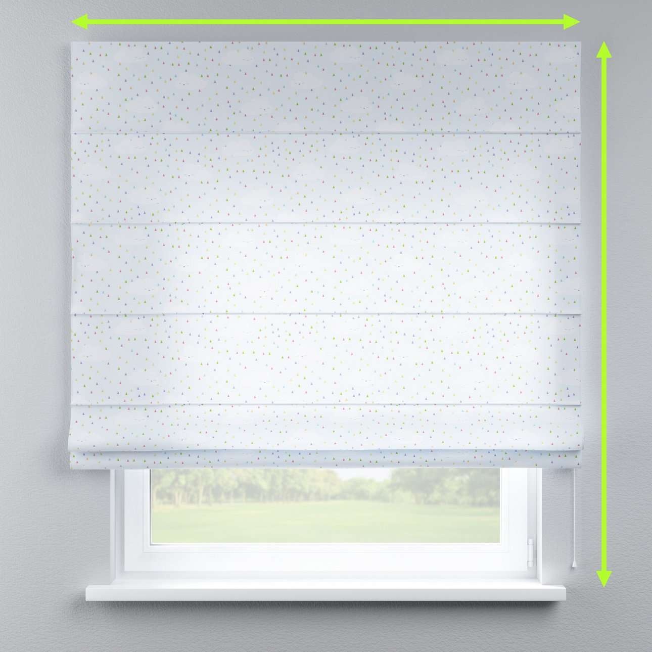 Lined roman blind in collection Apanona, fabric: 151-03