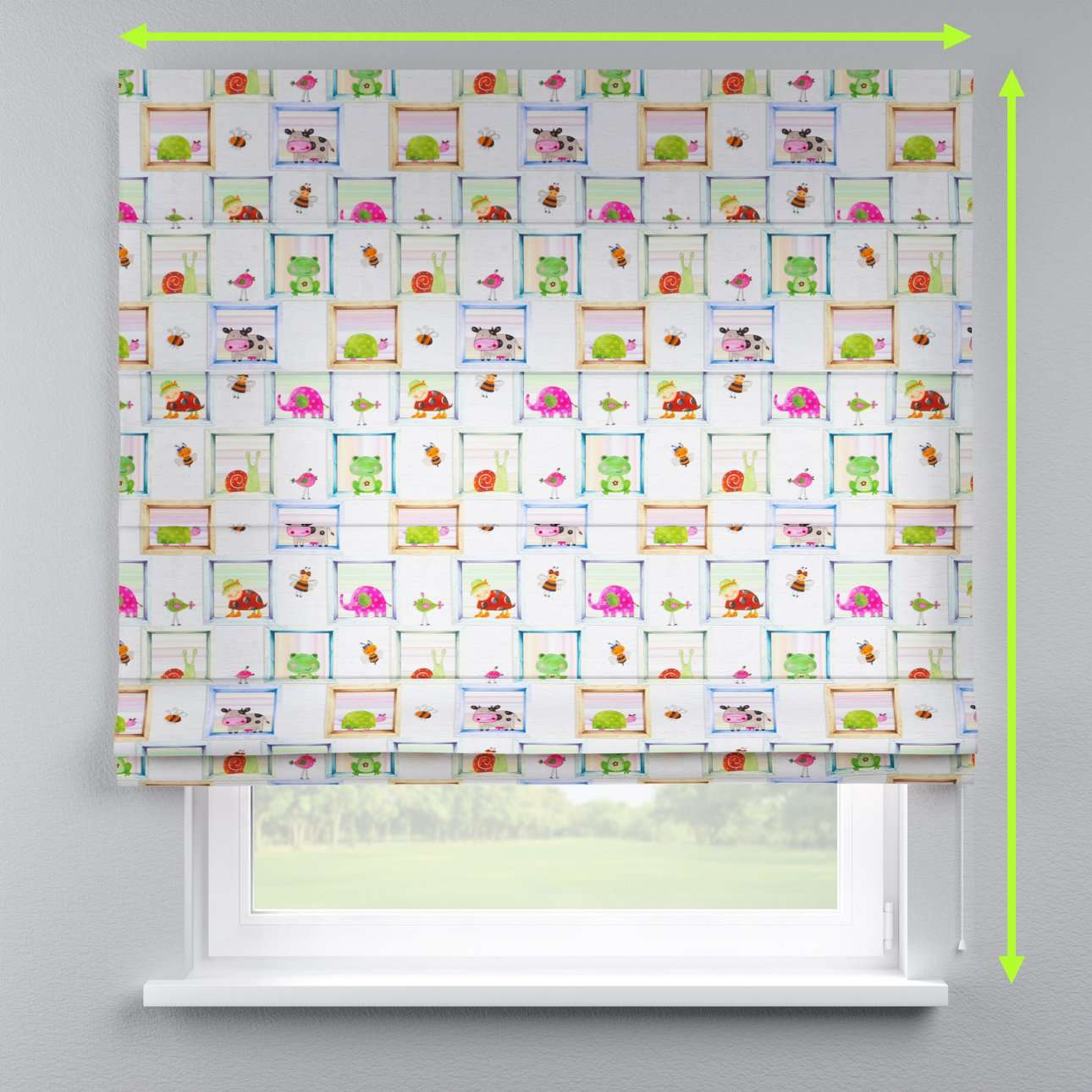 Lined roman blind in collection Apanona, fabric: 151-04