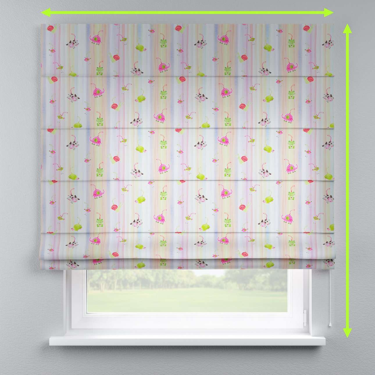 Lined roman blind in collection Apanona, fabric: 151-05