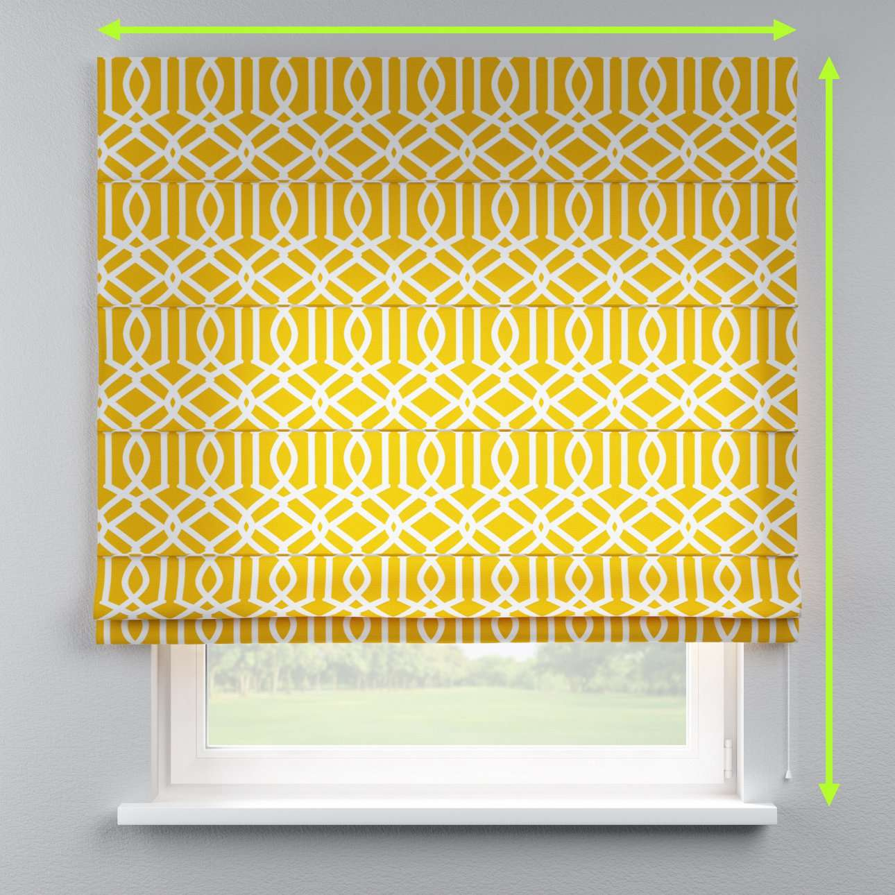 Lined roman blind in collection Comics/Geometrical, fabric: 135-09