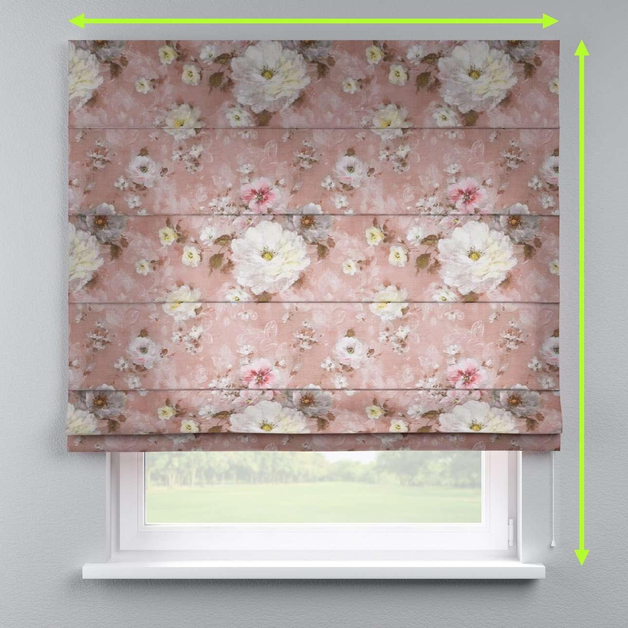 Rímska roleta s bielou krajkou V kolekcii Flowers, tkanina: 137-83
