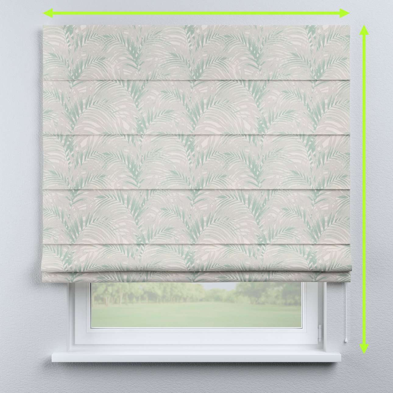 Lined roman blind in collection Gardenia, fabric: 142-15