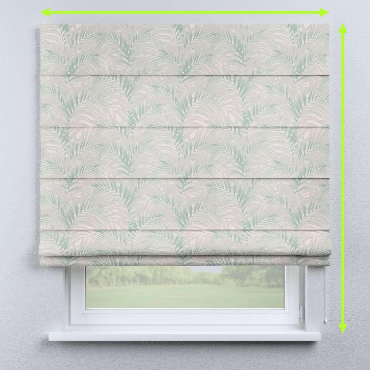 Rímska roleta s bielou krajkou V kolekcii Gardenia, tkanina: 142-15