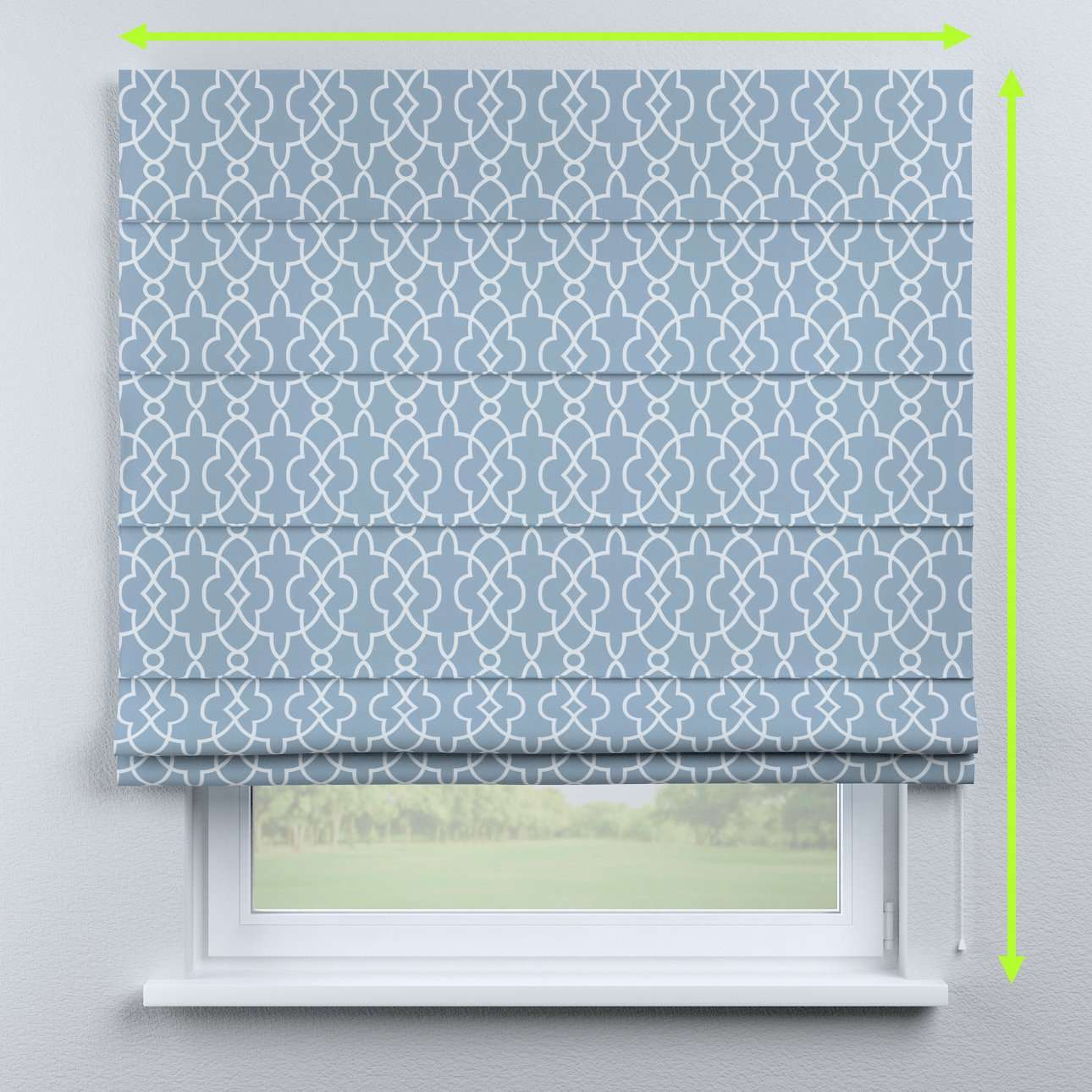 Lined roman blind in collection Gardenia, fabric: 142-22