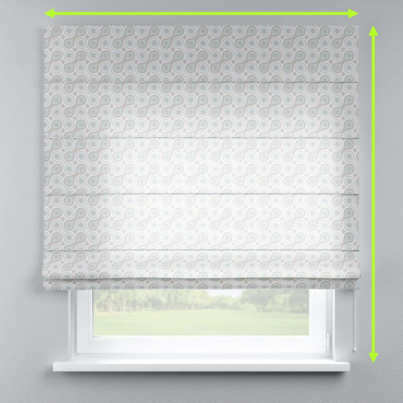 Lined roman blind in collection Flowers, fabric: 311-13