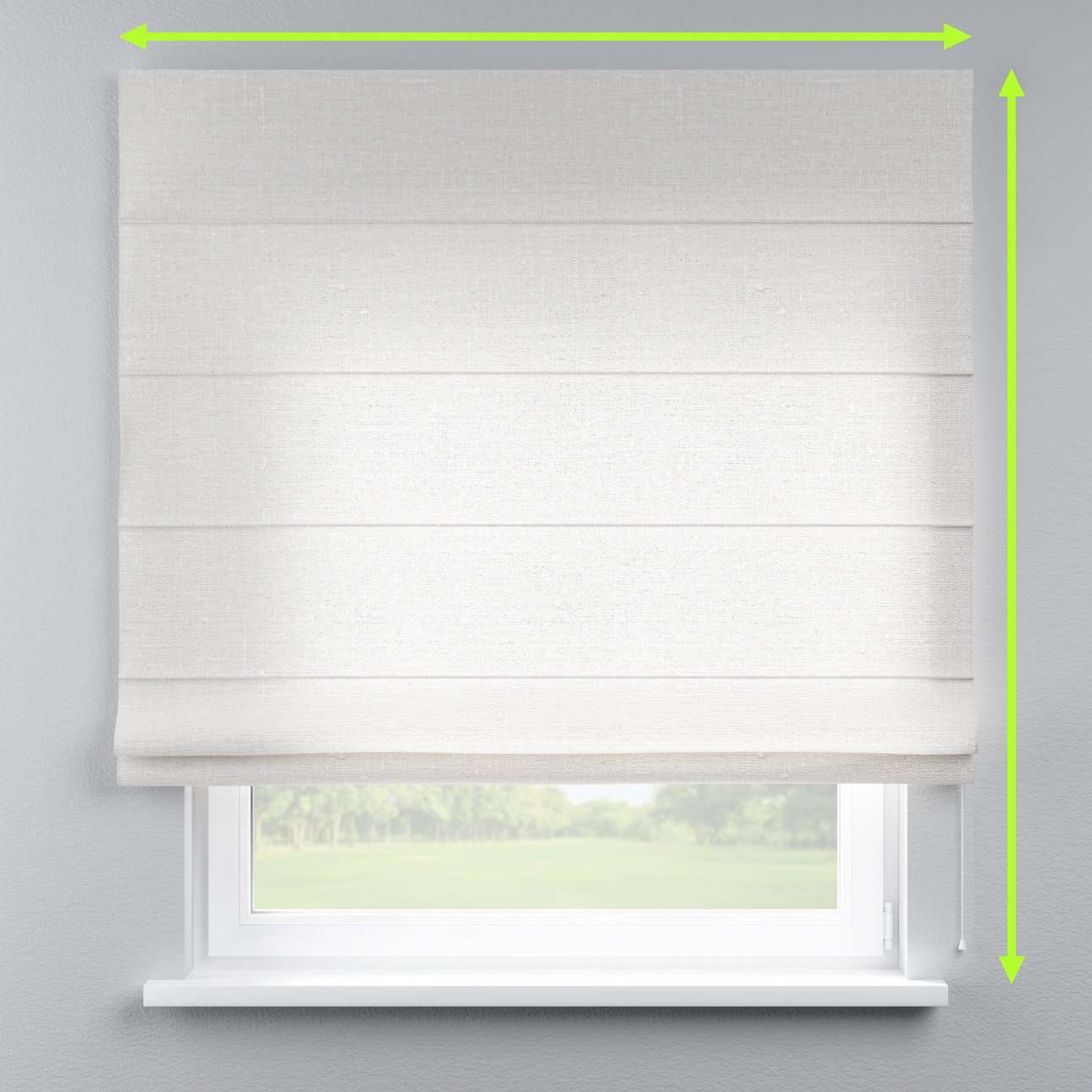 Lined roman blind in collection Linen , fabric: 392-04