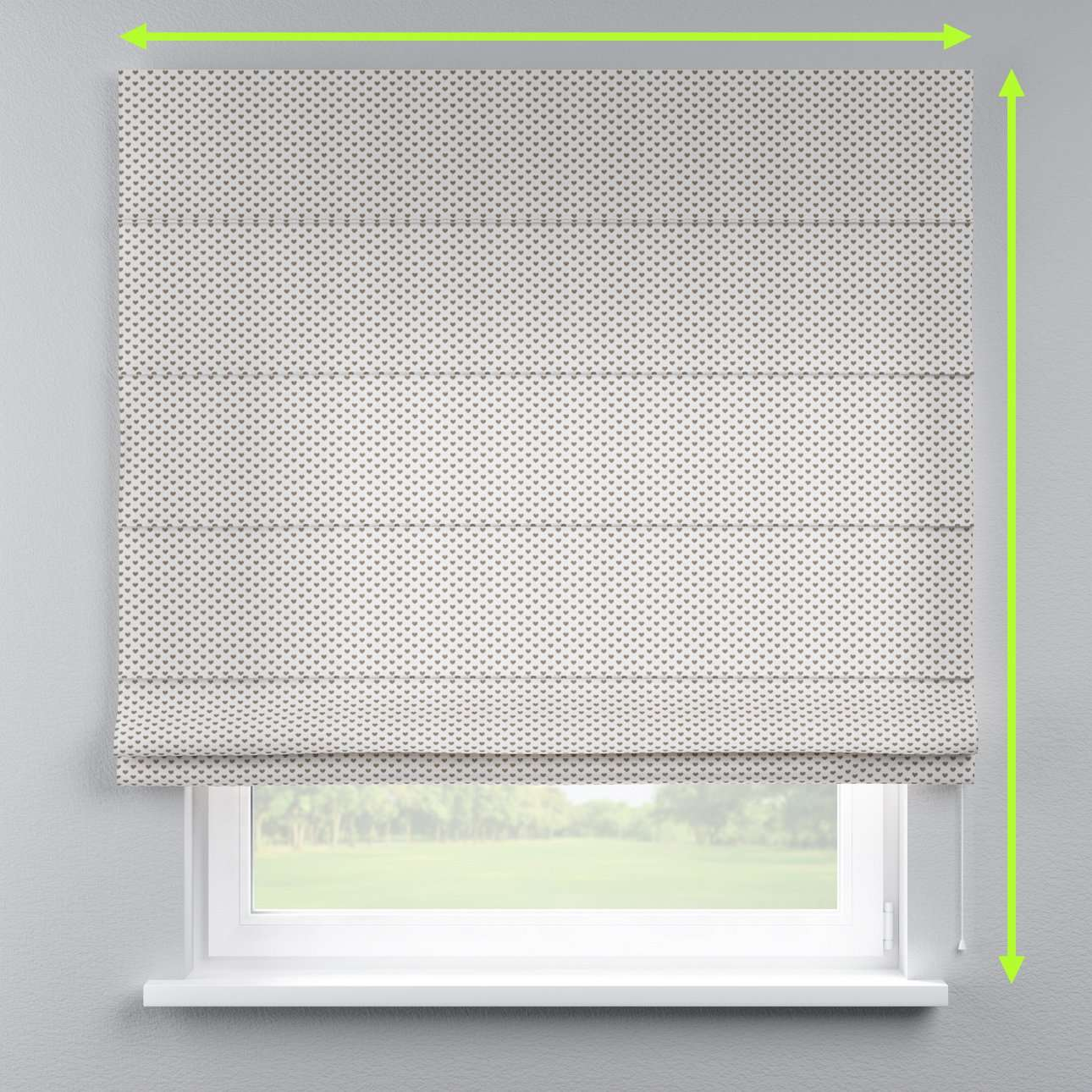 Lined roman blind in collection Nordic, fabric: 630-08
