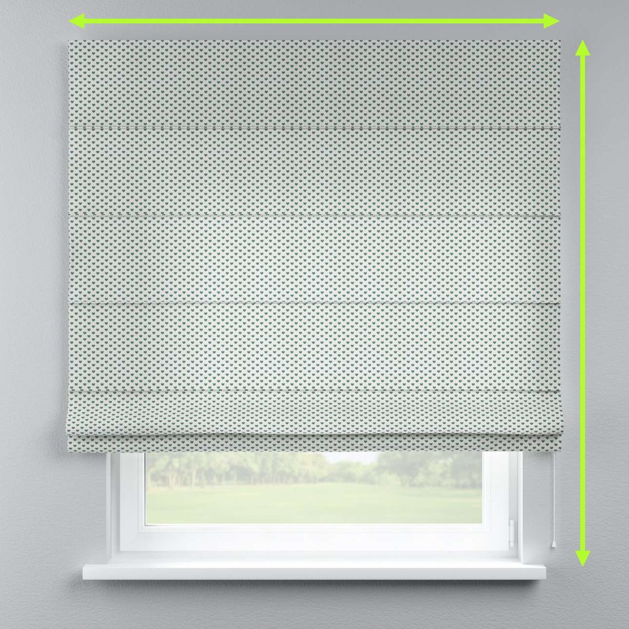 Lined roman blind in collection Nordic, fabric: 630-12