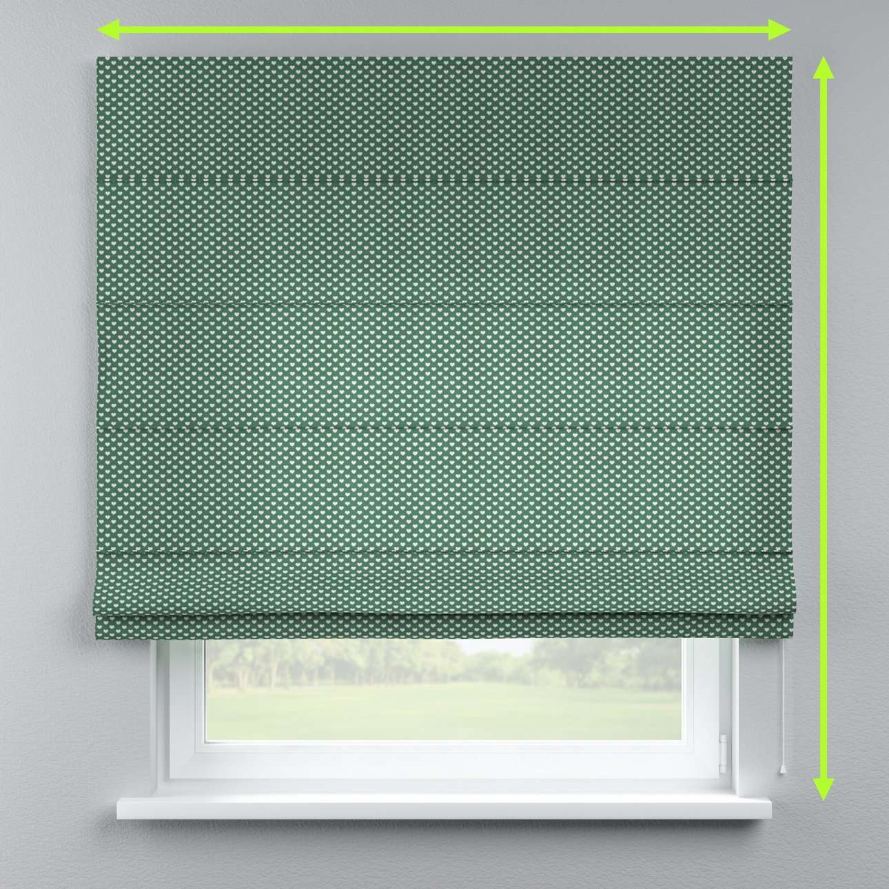 Lined roman blind in collection Nordic, fabric: 630-21