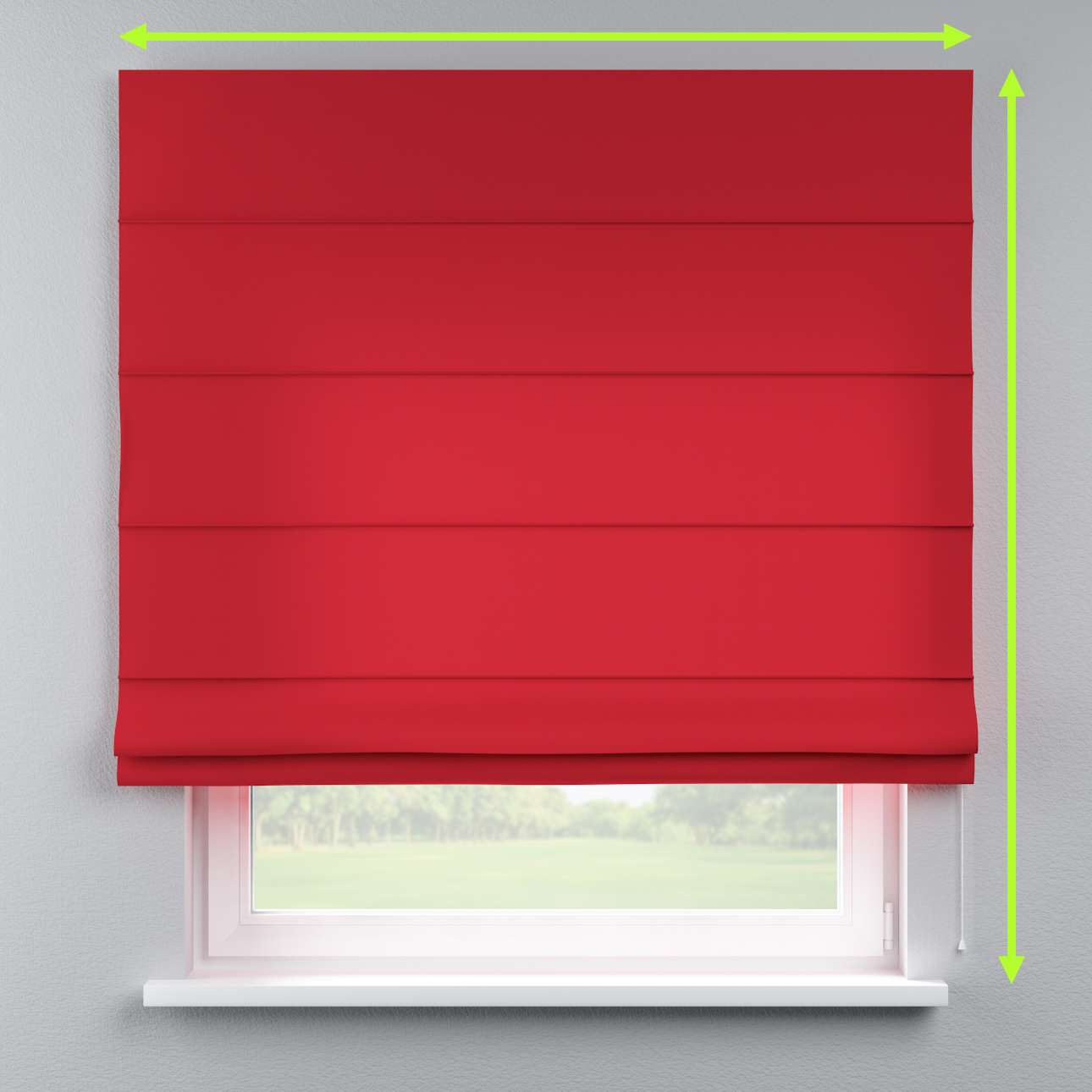 Lined roman blind in collection Cotton Panama, fabric: 702-04