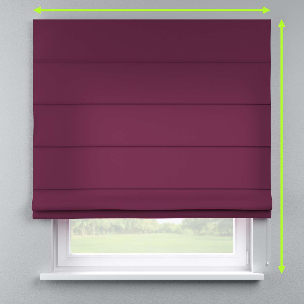 Lined roman blind in collection Cotton Panama, fabric: 702-05