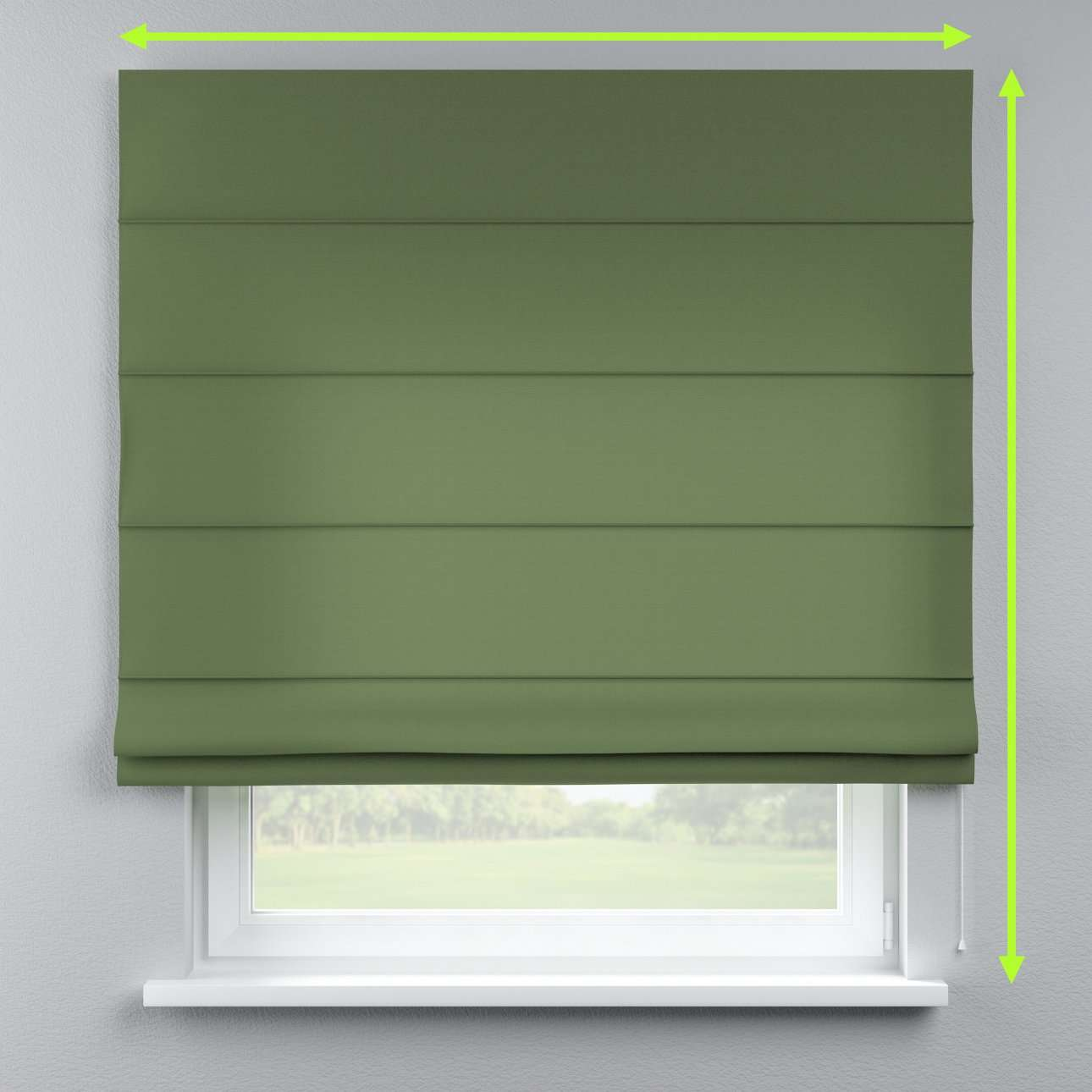 Lined roman blind in collection Cotton Panama, fabric: 702-06