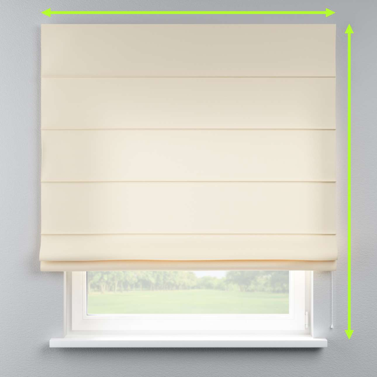 Lined roman blind in collection Cotton Panama, fabric: 702-29