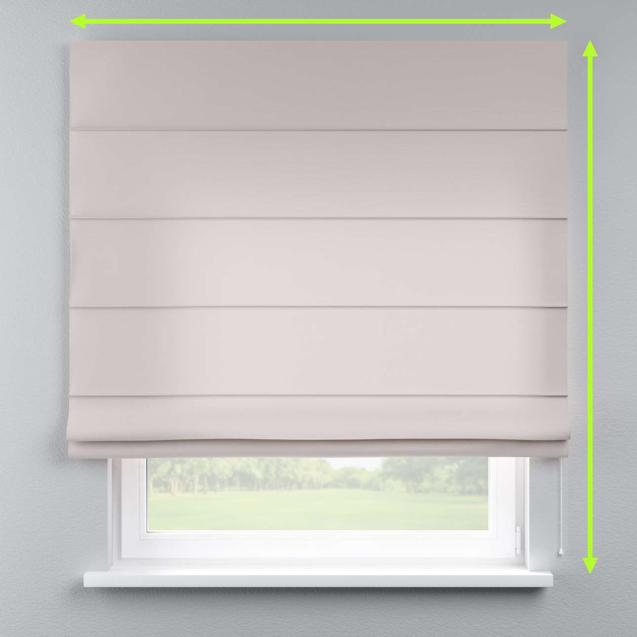 Lined roman blind in collection Cotton Panama, fabric: 702-31