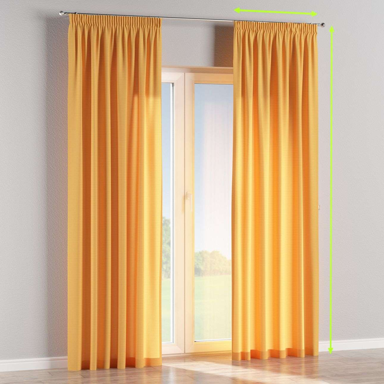 Pencil pleat lined curtains in collection Jupiter, fabric: 127-46