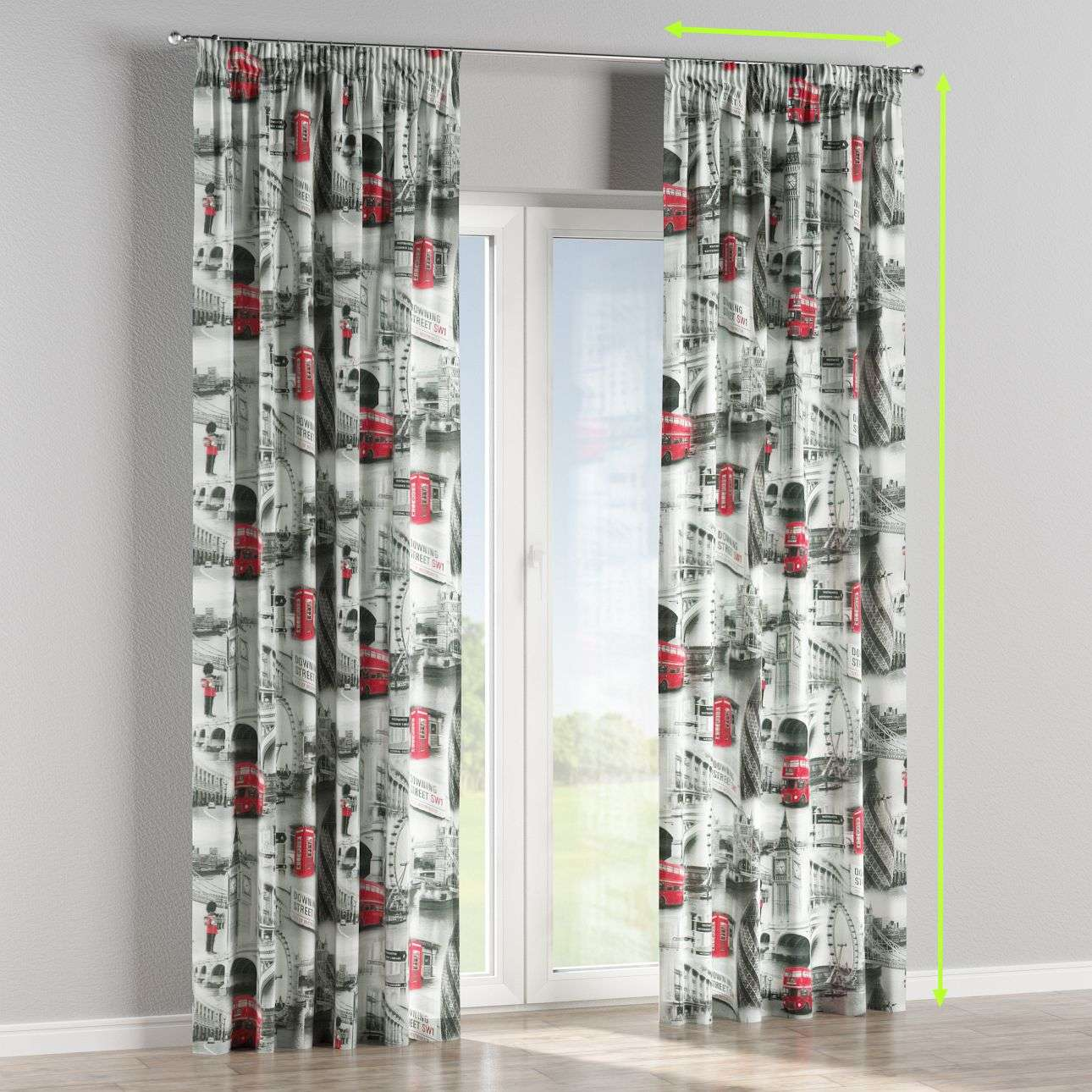 Pencil pleat lined curtains in collection Comic Book & Geo Prints, fabric: 111-04