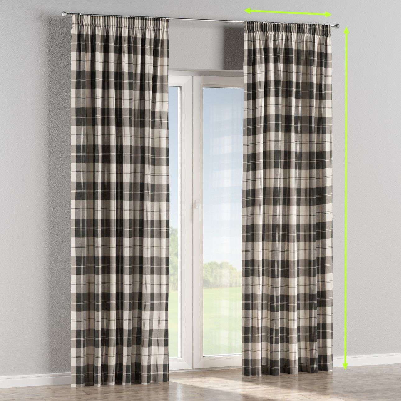 Pencil pleat lined curtains in collection Edinburgh , fabric: 115-74