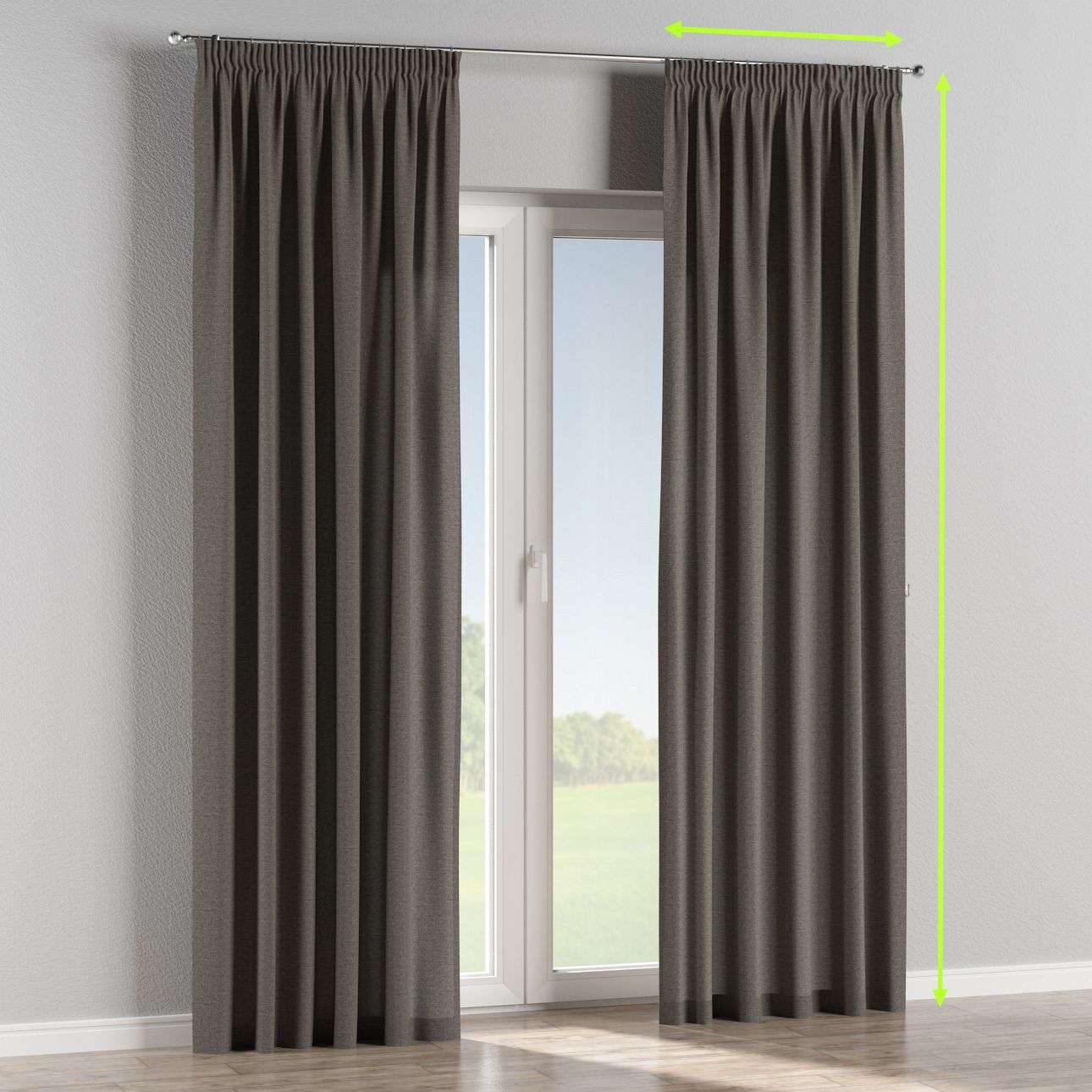 Pencil pleat lined curtains in collection Edinburgh , fabric: 115-77