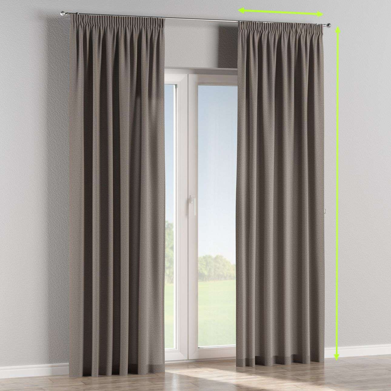 Pencil pleat lined curtains in collection Edinburgh, fabric: 115-81