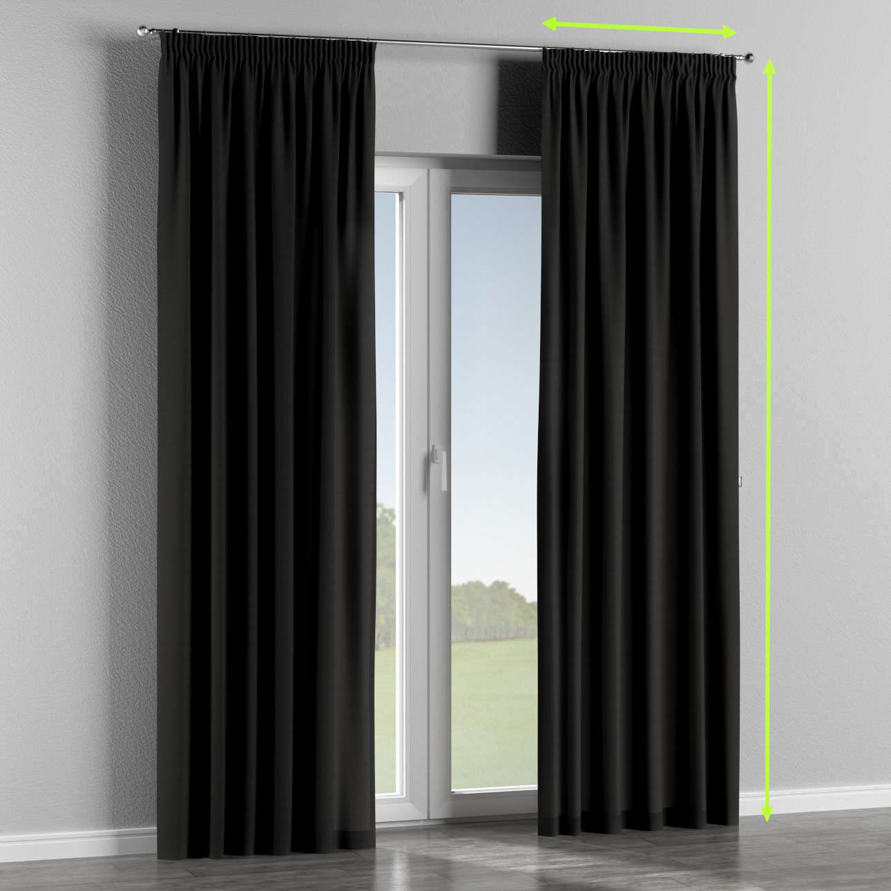 Pencil pleat lined curtains in collection Panama Cotton, fabric: 702-08