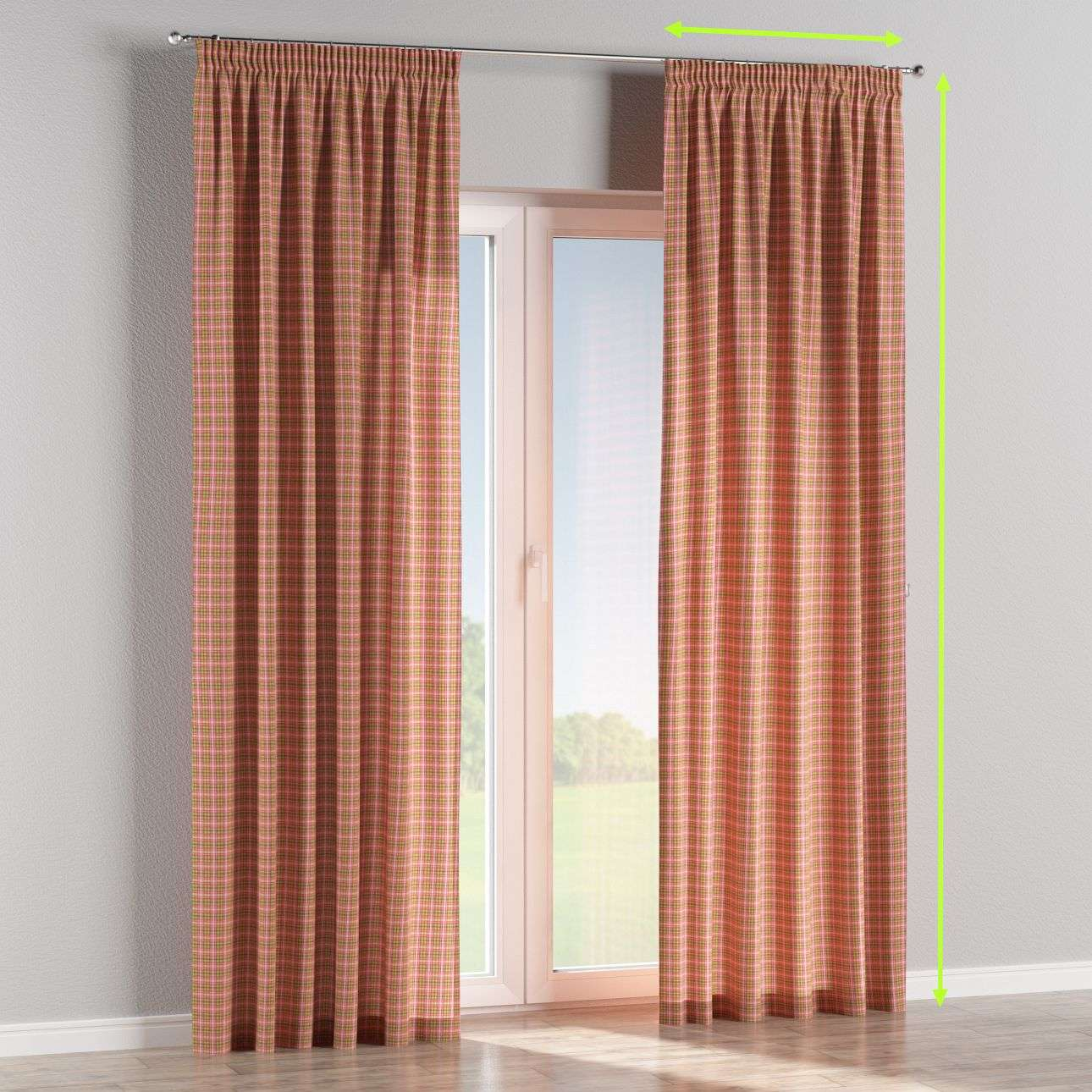 Pencil pleat lined curtains in collection Bristol, fabric: 126-25