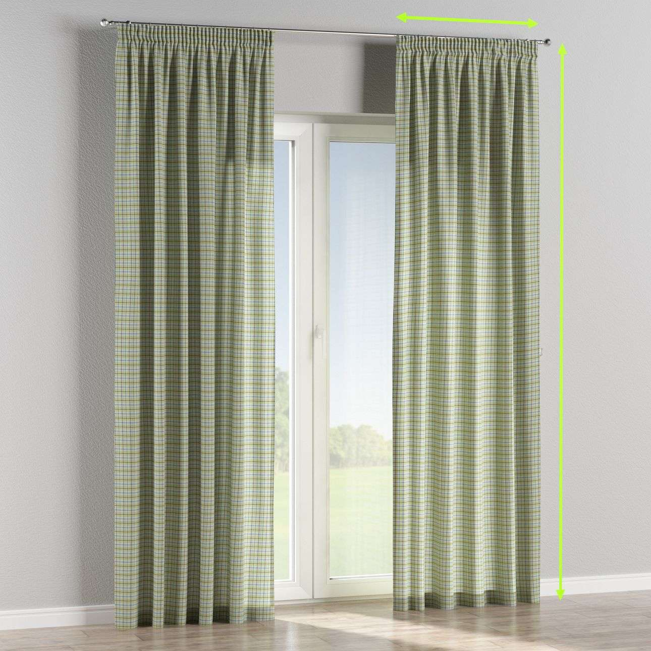 Pencil pleat lined curtains in collection Bristol, fabric: 126-69