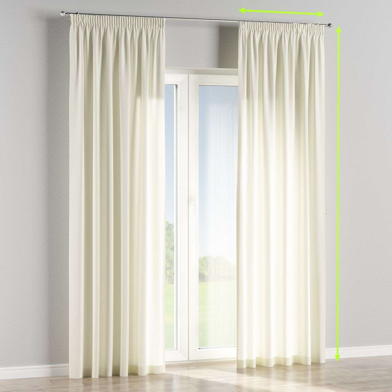 Pencil pleat lined curtains in collection Jupiter, fabric: 127-00