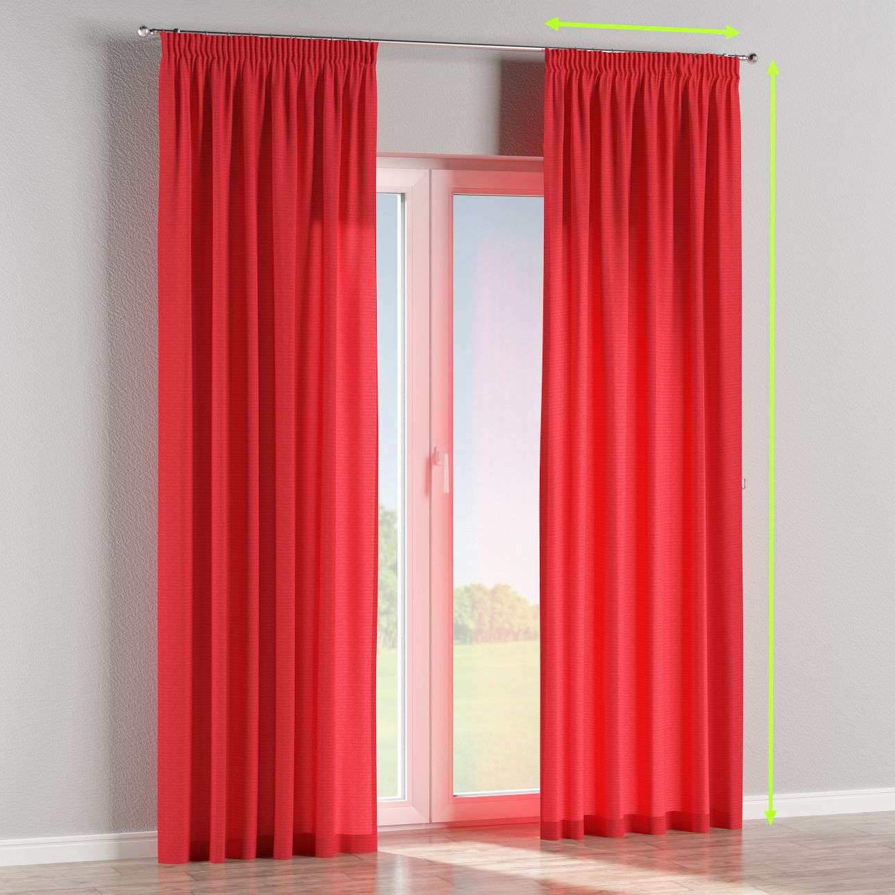 Pencil pleat lined curtains in collection Jupiter, fabric: 127-14