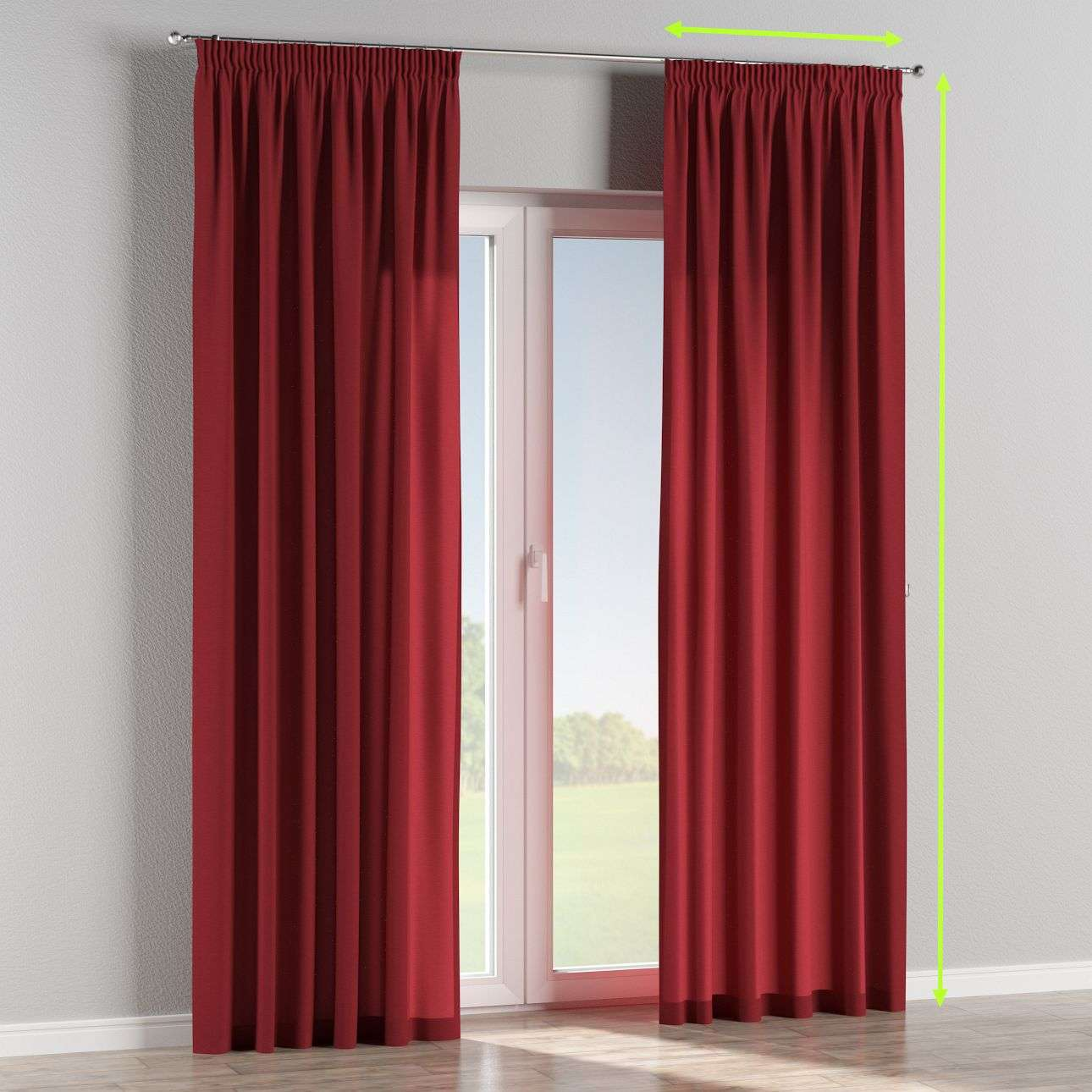 Pencil pleat lined curtains in collection Jupiter, fabric: 127-15