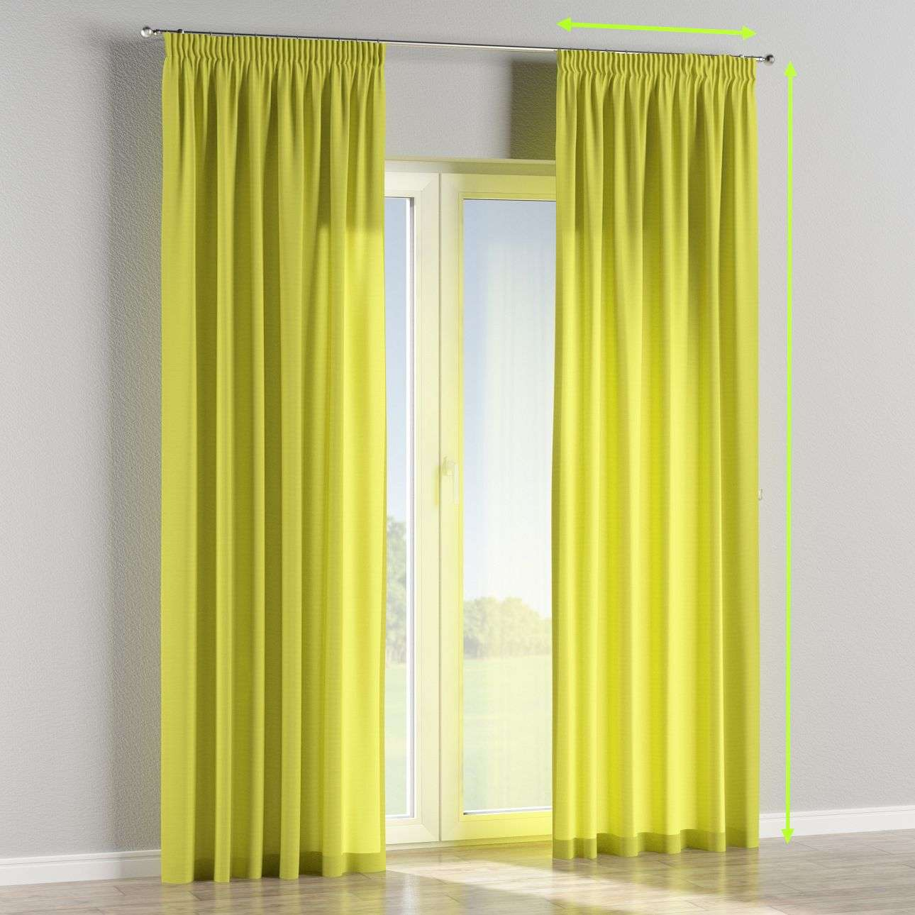 Pencil pleat lined curtains in collection Jupiter, fabric: 127-50
