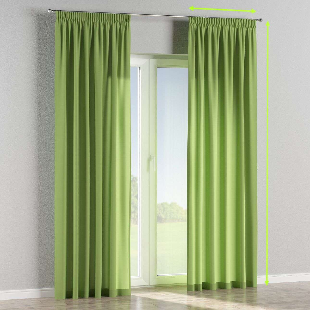 Pencil pleat lined curtains in collection Jupiter, fabric: 127-57
