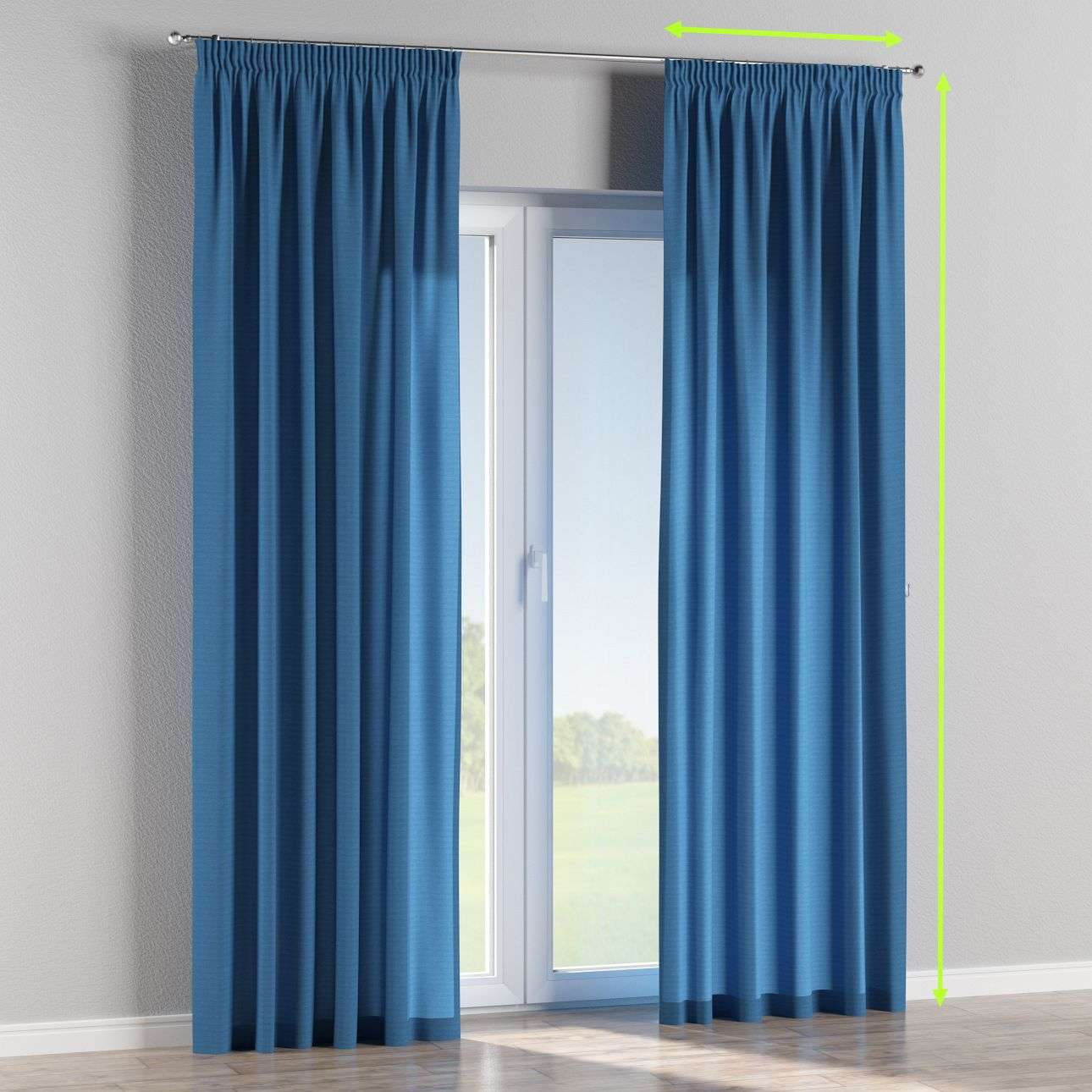Pencil pleat lined curtains in collection Jupiter, fabric: 127-61